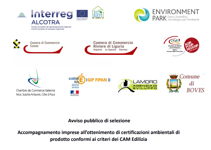 interreg alcotra environment park avviso ecobati