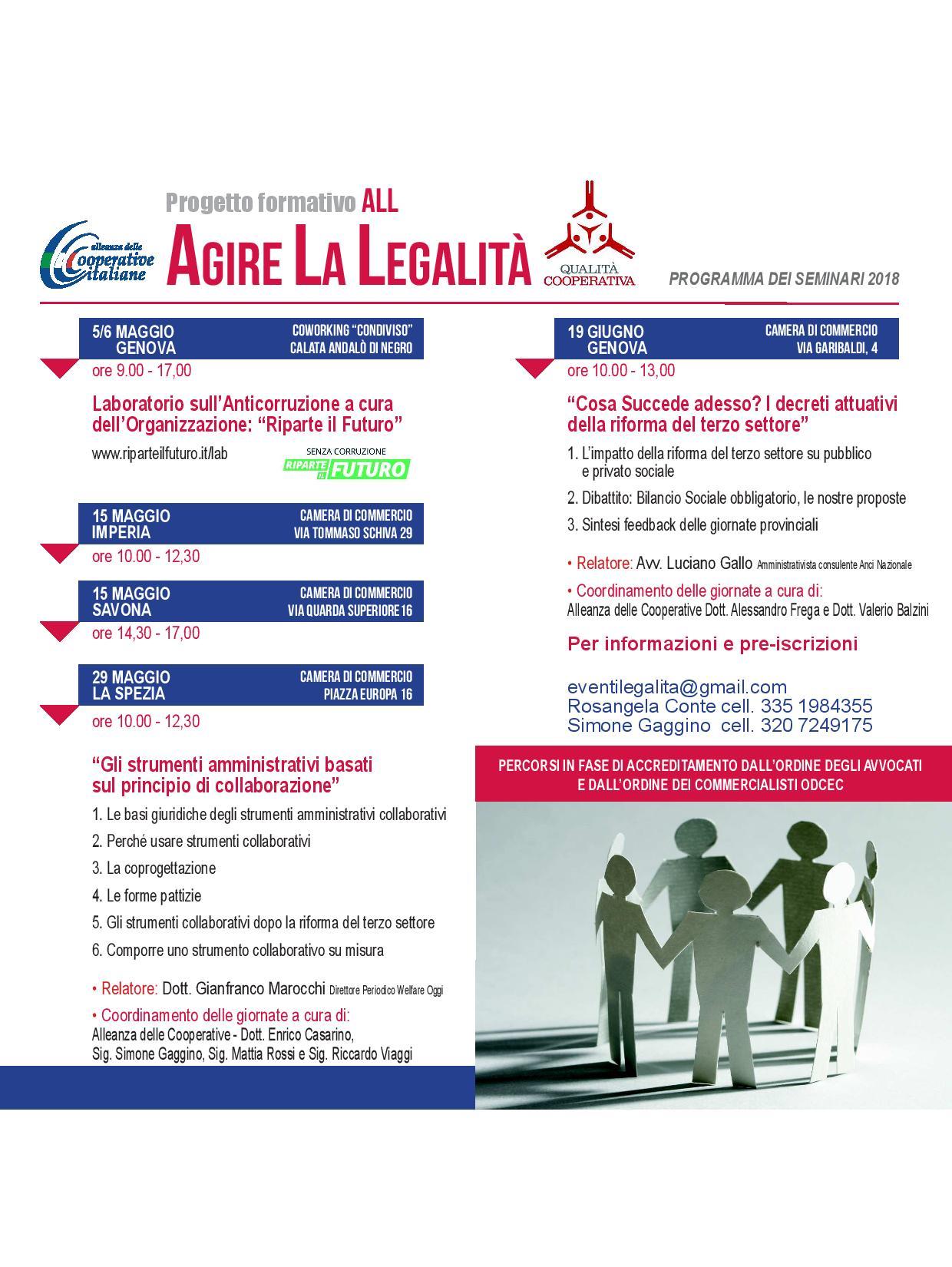 programma agire la legalità