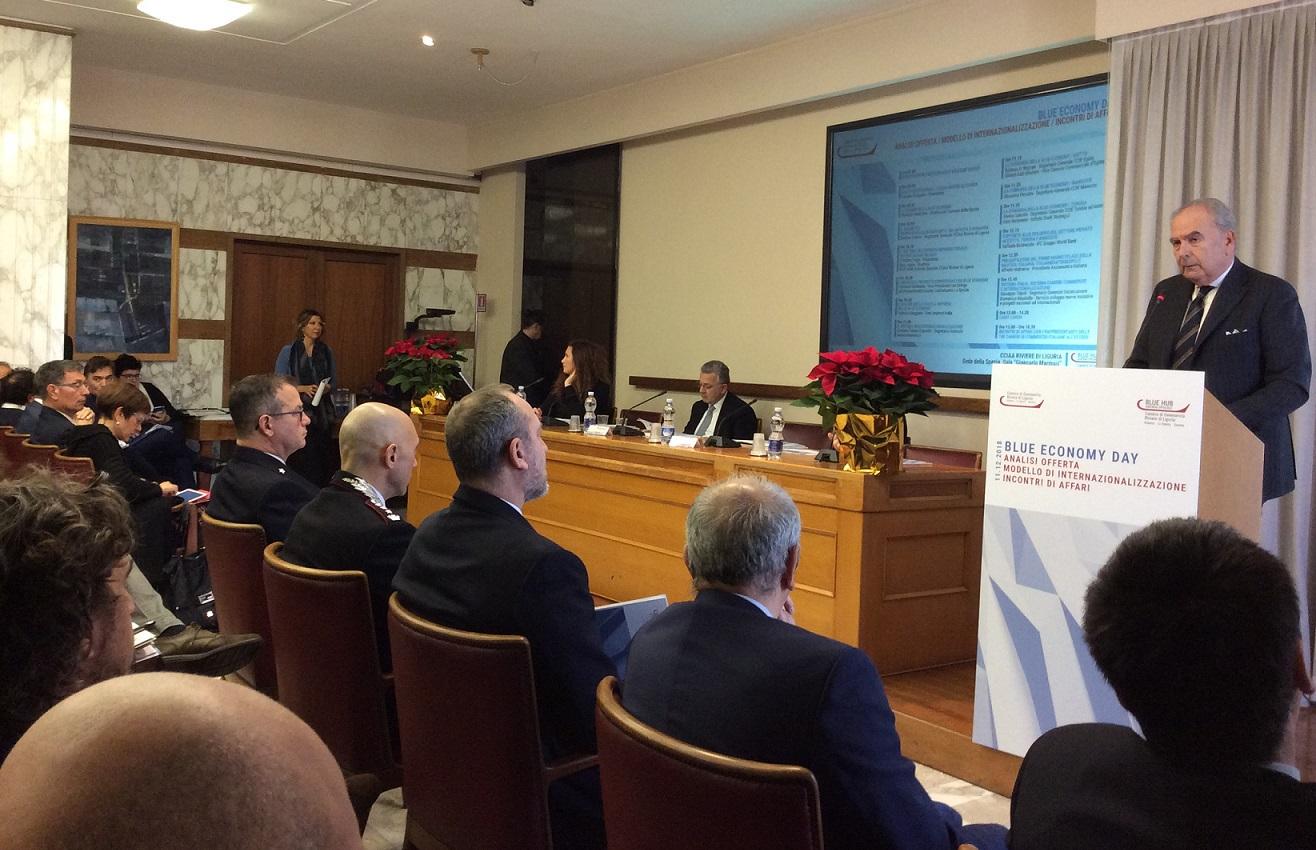foto prima fila convegno blue economy day la spezia 11 dicembre 2018