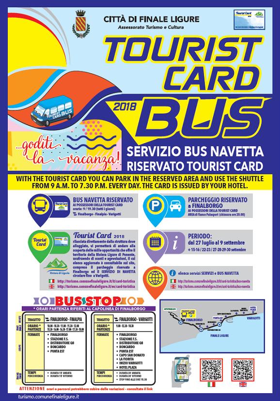comune di finale bus agevolazione tourist card