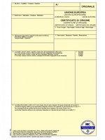 modulo certificato di origine